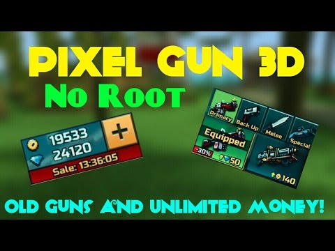 Pixel Gun 3D 12.6.1 NO ROOT HACK UNLIMITED GEMS AND COINS + OLD GUNS !!!! [With No Survey @ Antiban]