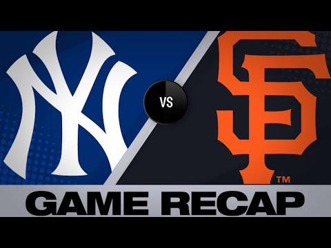 4/28/19: Yanks' bats surge in 11-5 win over Giants