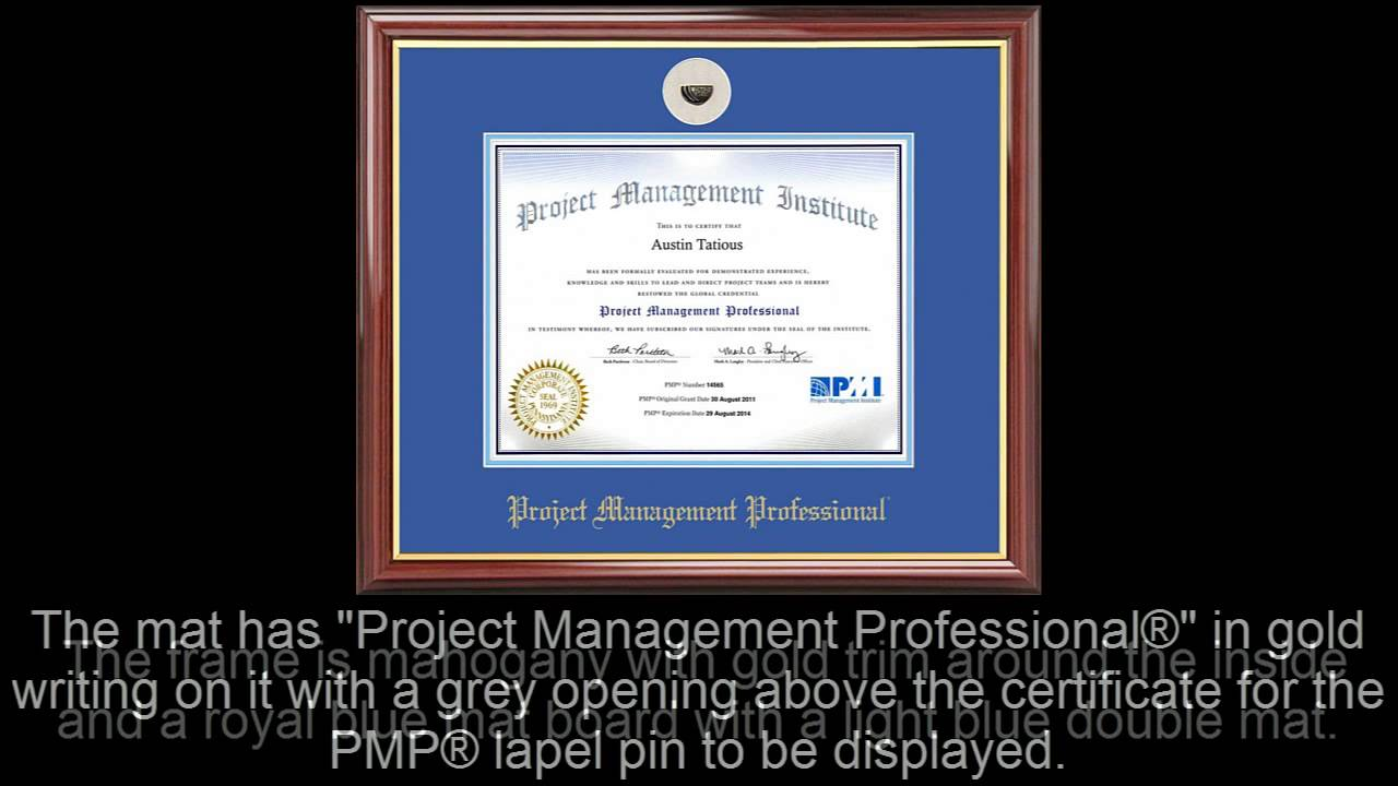 Pmp certificate frame mahogany with royal mat lapel pin opening pmp certificate frame mahogany with royal mat lapel pin opening 1betcityfo Image collections