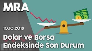 Dolar ve Borsa Endeksinde Son Durum - 10 Ekim 2018 saat 16:45