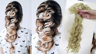 Объёмная коса с прядями на заколках БЫСТРАЯ ПРИЧЁСКА Hair tytorial