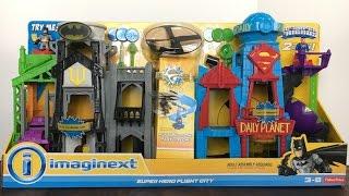 imaginext dc super friends super hero flight city batman wayne tower and superman daily planet