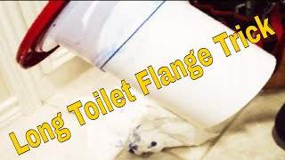 Toilet flange PVC Replace And Repair Trick Extra-Long Extension 👍👍