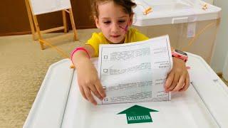 Выборы 2019 прогулки в парке и игра с дочкой в Северный Полюс