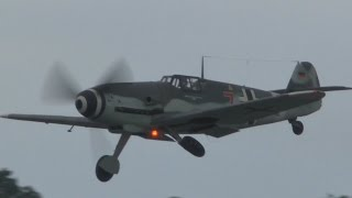 Biggin Hill FESTIVAL OF FLIGHT 2015: Hurricanes and Spitfires dog fighting an ME109