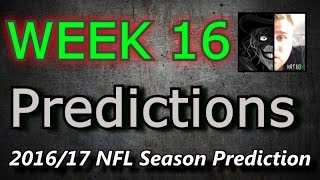Week 16 - 2016 NFL Predictions