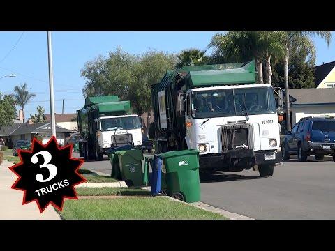 Waste Management Garbage Trucks