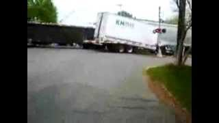 tractor Train hits tractor-trailer