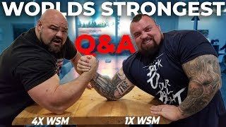 Q&A WITH EDDIE HALL | 500KG DEADLIFT | WORLDS STRONGEST ARM WRESTLE?!?!