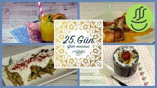 Ramazan 25. Gün İftar Menüsü: İslim Kebabı - Bamya Kızartması - Limonata - Kakaolu Puding
