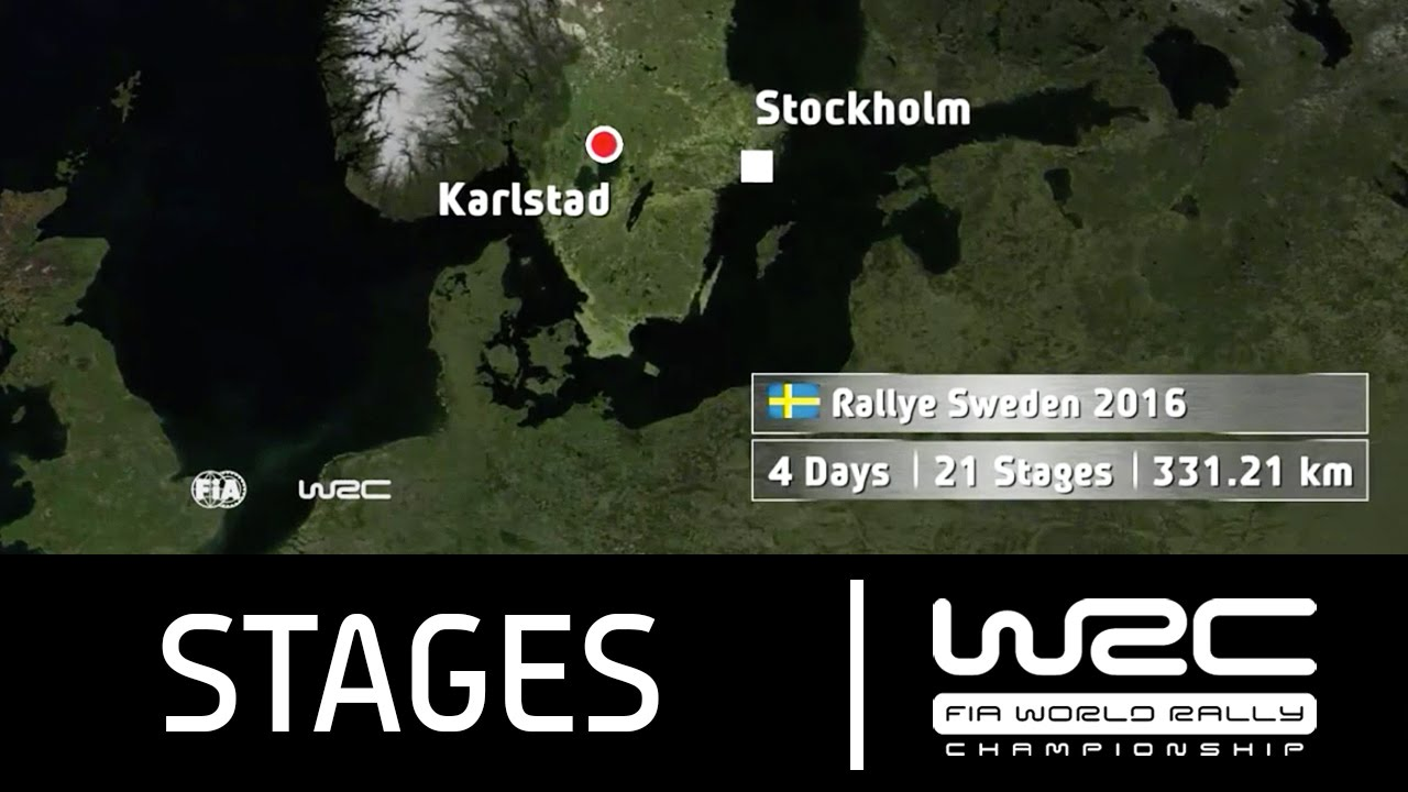 WRC Rally Sweden The Stages YouTube - Wrc sweden 2015 map