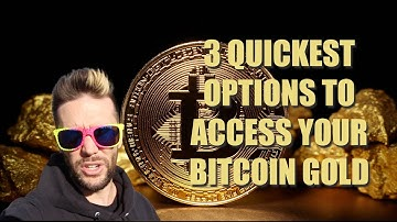3 Quickest Ways To Access Bitcoin Gold