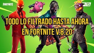 ALL SKINS FILTERED AND NEWS OF FORTNITE BATTLE ROYALE 8.20 PARK (LEAKED, NEW)