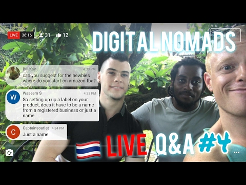 LIVE🔴Digital Nomad Q&A #4 - How we Started Making Money Online: Freelance vs Amazon vs Dropshipping