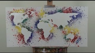 Art Lesson : How to paint a map of the world