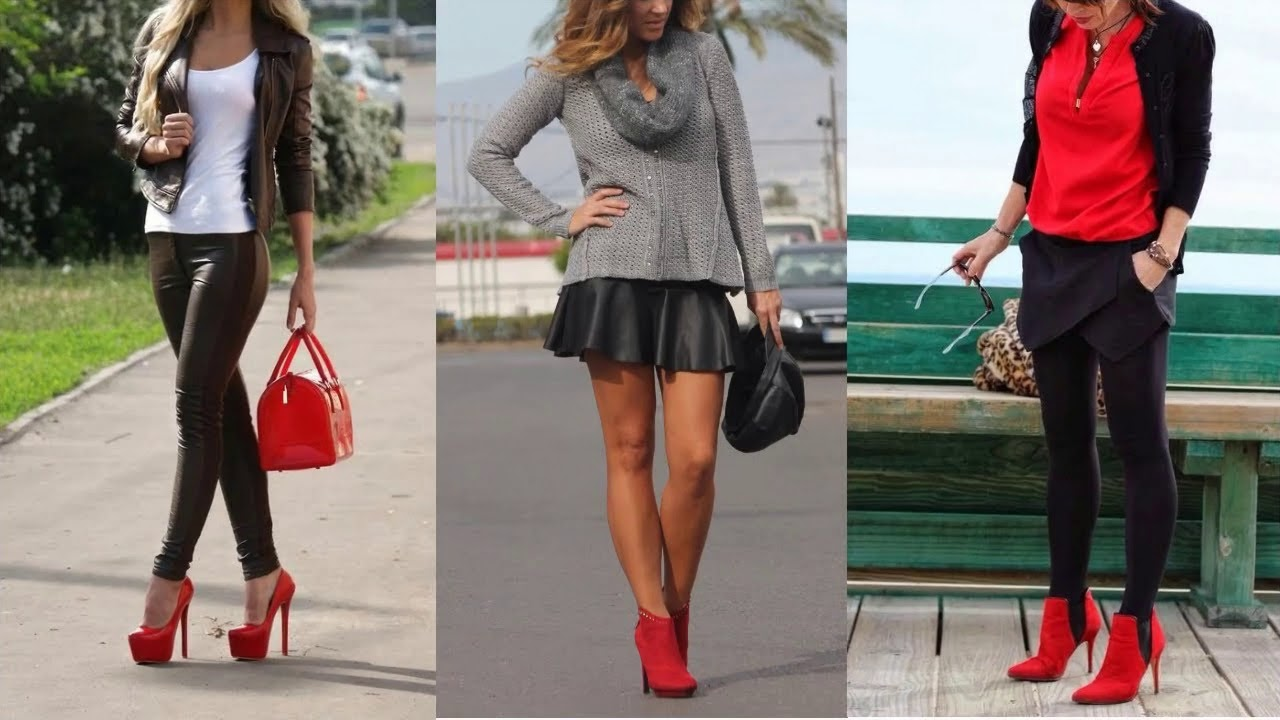 mejor selección de venta limitada Venta caliente genuino Combinacion de ropa con zapatos rojos
