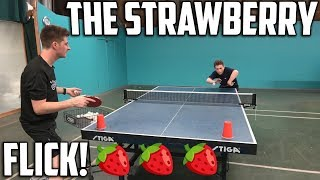 THE DEADLY STRAWBERRY FLICK | TABLE TENNIS 🍓🍓🍓
