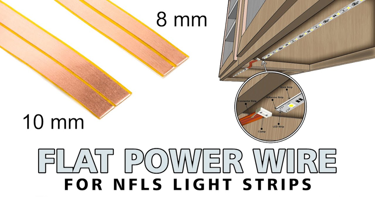 Flat Power Wires For Led Light Strips Nfls Series Youtube