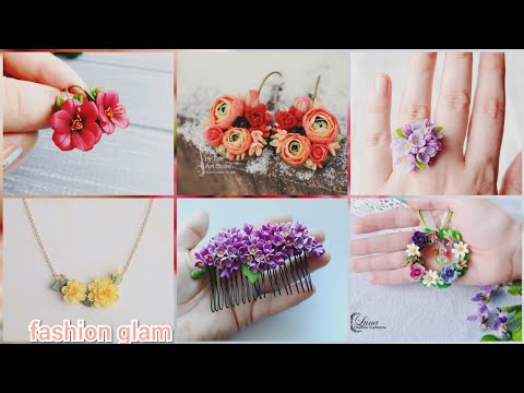 gorgeous hand made polymer clay jewelry styles and ideas/clay earrings patterns