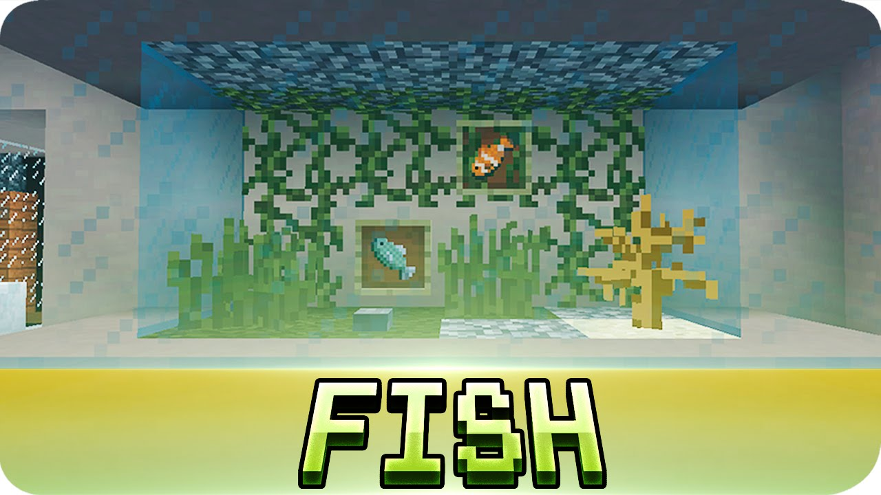 Minecraft Aquarium Fish Tank Tutorial Decoration Ideas YouTube