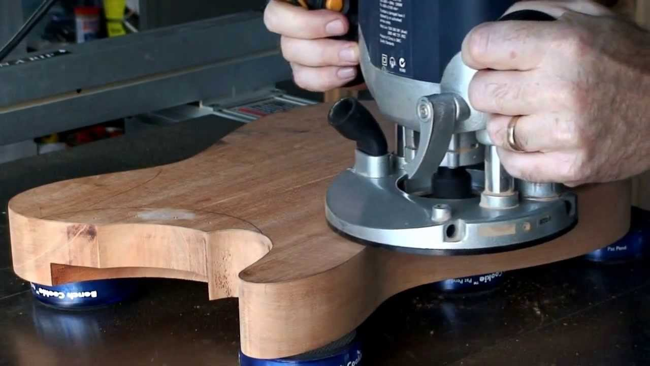 Part 3 Bandsawing Routing A Guitar Body Telecaster Youtube