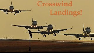 Crosswind Landings in Big Jets