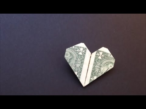 Easy Dollar Bill Heart Origami Youtube