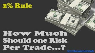 How Much Should A Trader Risk Per Trade? The 2% Rule