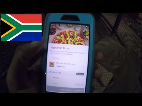 Last day in Johannesburg hostel tour and some UberEats