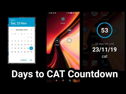 Days To CAT CET Exams Countdown App. Must Download For Motivation And Tracking.