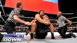 Jack Swagger brawls with Rusev: SmackDown, February 26, 2015