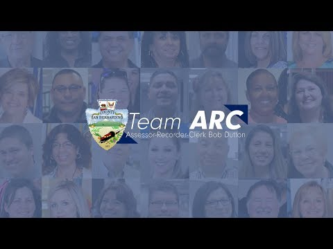 Join Team ARC: San Bernardino County Assessor-Recorder-Clerk