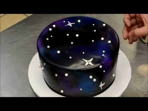 How to make a Galaxy Theme Birthday Cake - Simple & Easy Technique