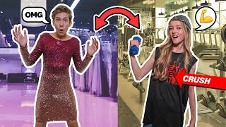 SWITCHING LIVES With My CRUSH For a Day **24 HOUR CHALLENGE**🔄😱| Sawyer Sharbino