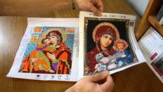 Обзор готовой картины из алмазной живописи Икона Пресвятой Богородицы