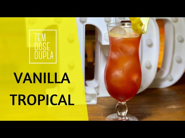Drink com VODKA DE BAUNILHA