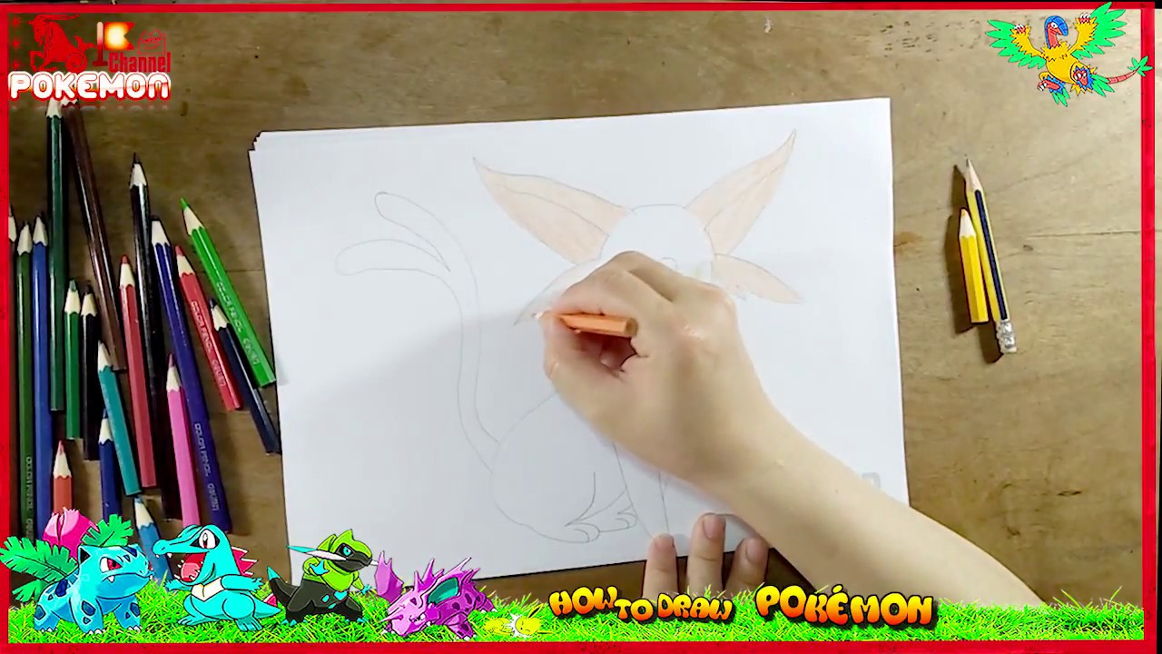 how to draw espeon pokemon makeup eye shadow drawing and coloring