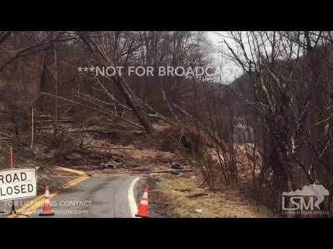 02-23-18 Bluefield, WV - Landslide Destroys Road And House