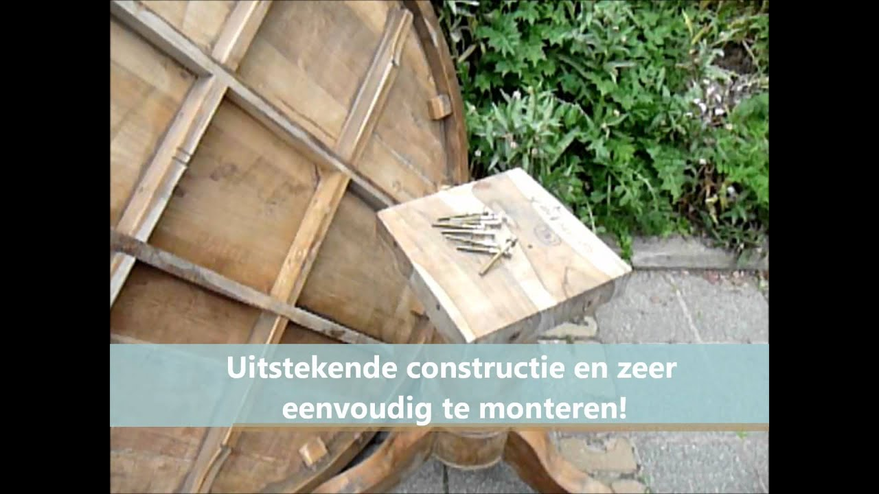 Ronde Teaktafel Oud Hout.Ronde Teak Tafel Oud Hout 140cm Youtube
