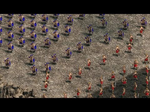 300 SPARTANS Vs 10,000 PERSIANS - Battle Of Thermopylae | Age Of Empires: Definitive Edition