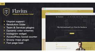 Flavius - Lawyer and Attorney WordPress Theme | Themeforest Website Templates and Themes