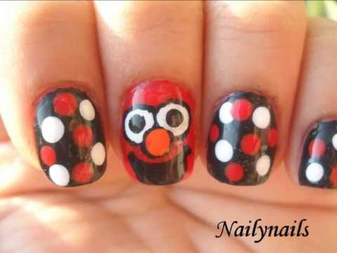 Elmo Nail Art Design