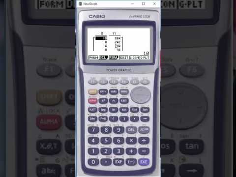 Table Setup for Casio Graphing Calculator