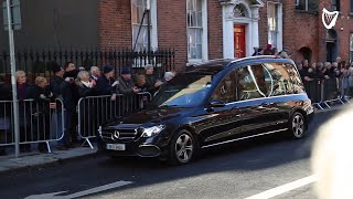 Huge crowds gather for funeral of Gay Byrne at St Mary's Pro Cathedral