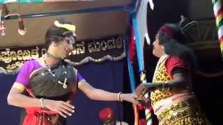 Yakshagana -- ಪಾದ ಪ್ರತೀಕ್ಷಾ - 6 - Prajwal kumar as Shabara pathni - hasya