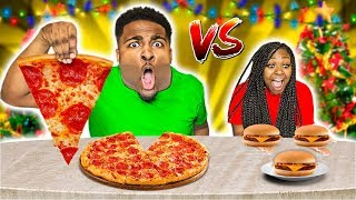 big-vs-small-food-challenge-vlogmas-day-23