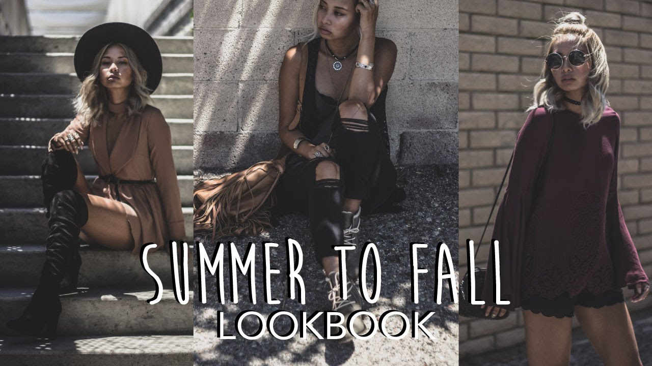 7cbb364ba5 Summer To Autumn Lookbook  Fall Transitional Outfits (Modern Bohemian) -  YouTube