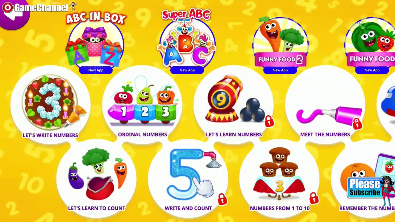 Funny Food 3 - Math Kids Number Games For Toddlers / Education ...