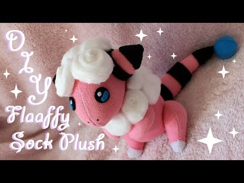 ❤ DIY Flaaffy Sock Plush! How To Make A Cute Pokemon Plushie! ❤