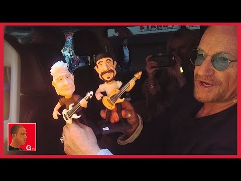 Bono talks to fans and accepts gifts on GTV Reality